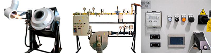 Hornos de Fusión Rotativos de Gas